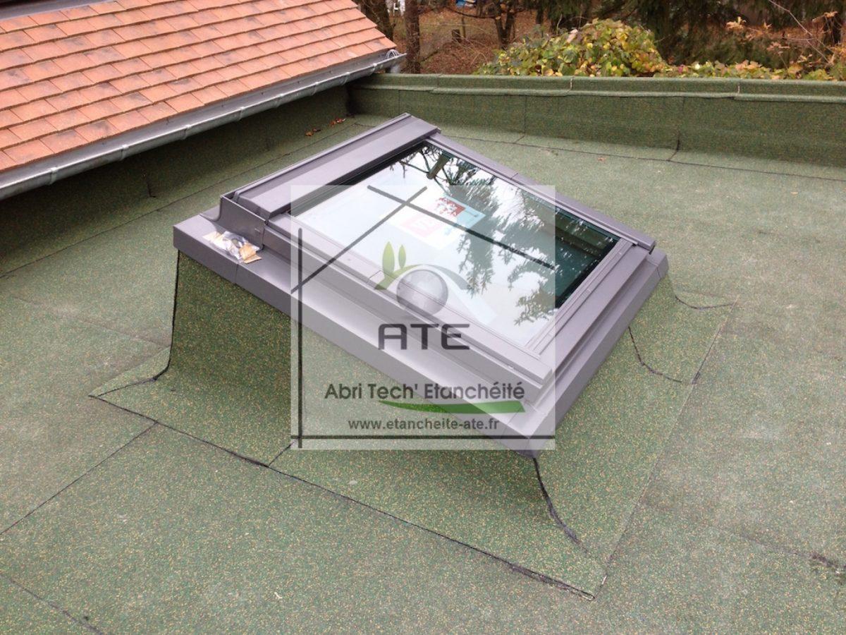 Terrasse inaccessible avec pose d 39 un v lux abri tech for Terrasse inaccessible